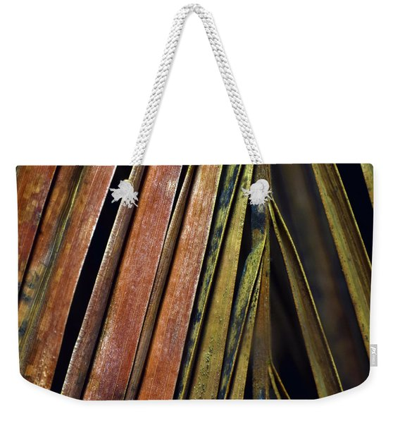 Abstract Palm Frond Weekender Tote Bag