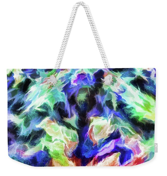Abstract - Parting The Waters Weekender Tote Bag