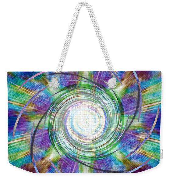 Abstract - Peacock Weekender Tote Bag