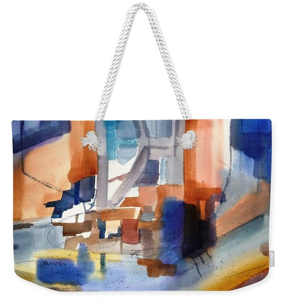 Abstract- Peggy's Cove Weekender Tote Bag