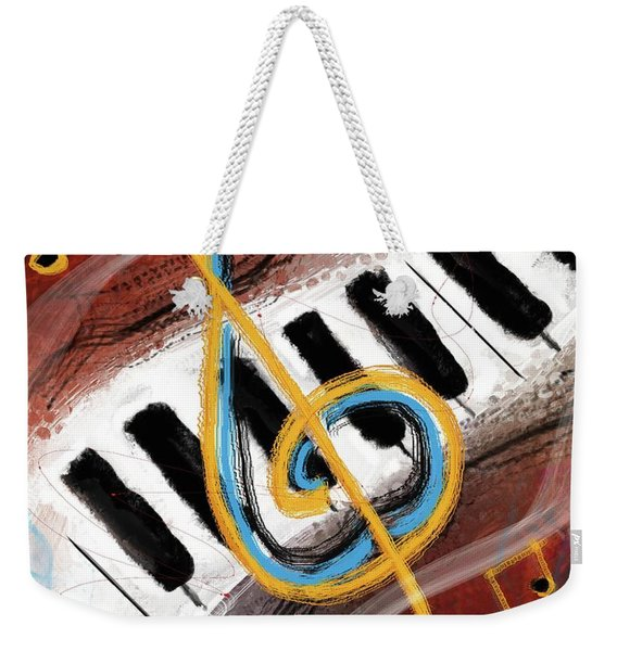 Abstract Piano Concert Weekender Tote Bag