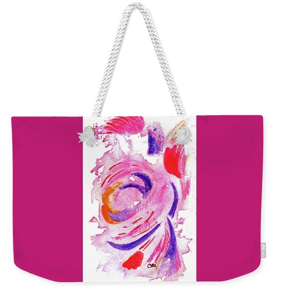 Abstract Pink Weekender Tote Bag