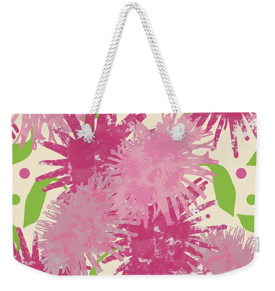 Abstract Pink Puffs Weekender Tote Bag
