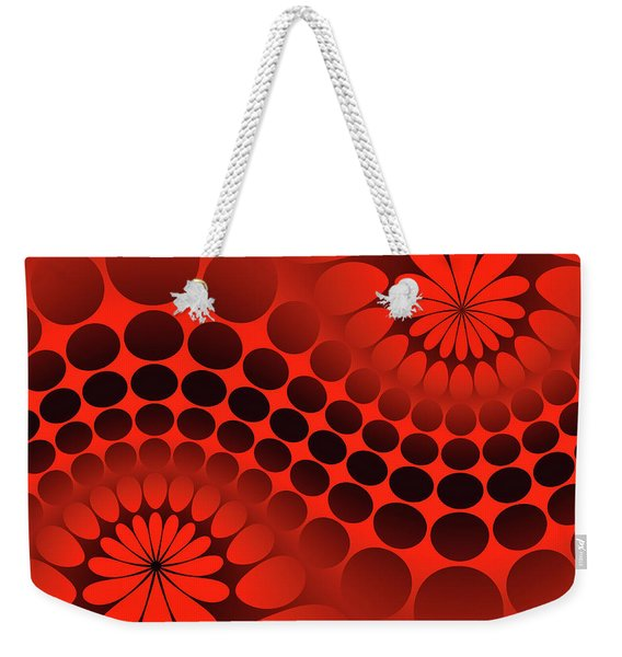 Abstract Red And Black Ornament Weekender Tote Bag