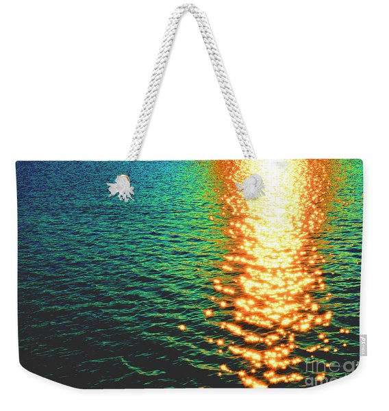 Abstract Reflections Digital Painting #5 - Delaware River Series Weekender Tote Bag