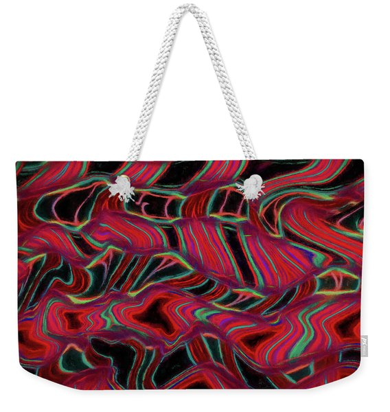 Abstract - Ribbons Of Light Weekender Tote Bag