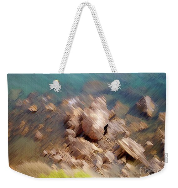 Abstract Rock By The Sea Weekender Tote Bag