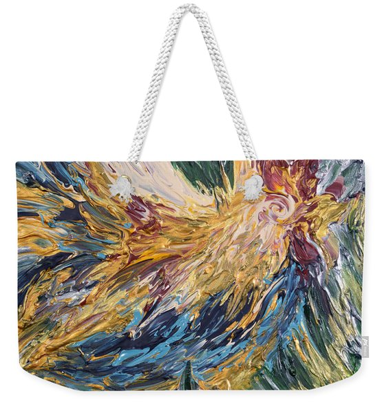 Abstract Guam Rooster Weekender Tote Bag