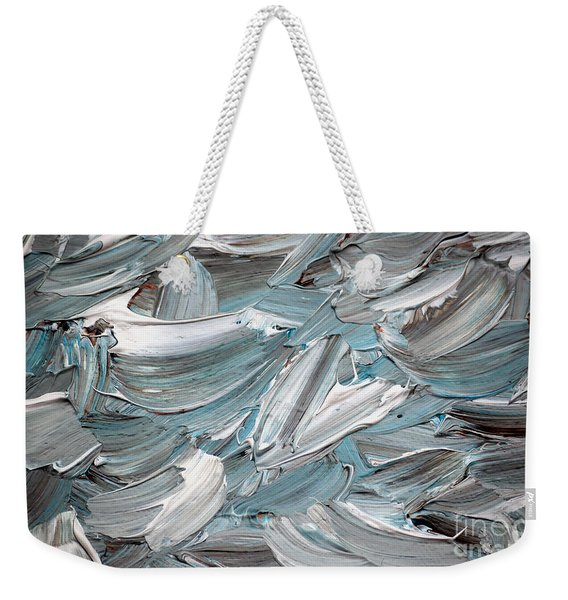 Weekender Tote Bag featuring the painting Abstract Series D010816 by Mas Art Studio