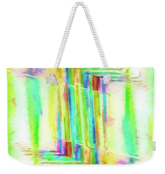 Abstract - Stained-glass Dreams Weekender Tote Bag