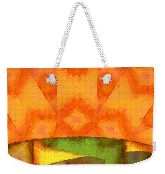 Abstract Sunrise Weekender Tote Bag