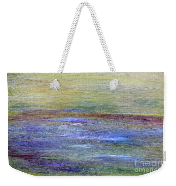 Weekender Tote Bag featuring the painting Abstract Sunset A11317 by MasArtStudio
