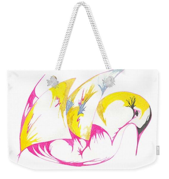 Abstract Swan Weekender Tote Bag