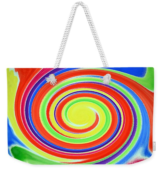 Weekender Tote Bag featuring the painting Abstract Swirl A1 1215 by Mas Art Studio