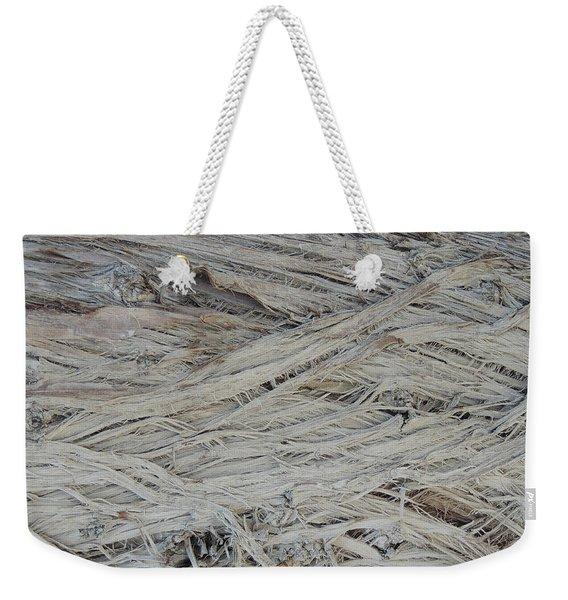 Abstract Tree Bark Weekender Tote Bag