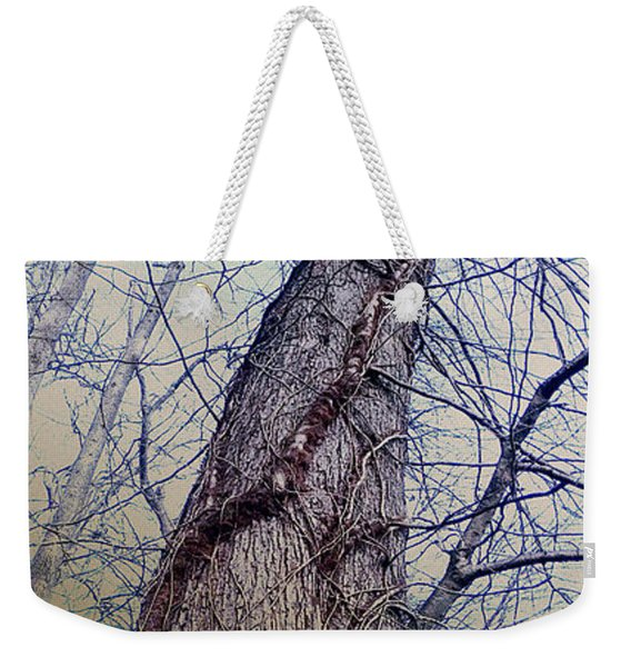 Abstract Tree Trunk Weekender Tote Bag