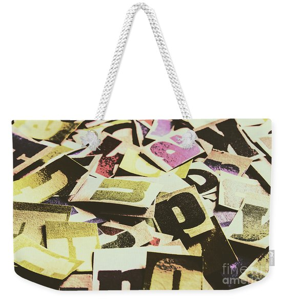Abstract Typescript Weekender Tote Bag