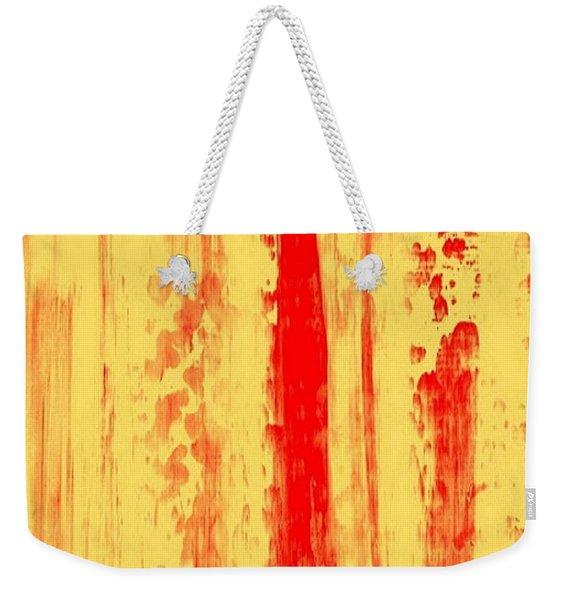 Abstract Urban Rain 3.0 Weekender Tote Bag