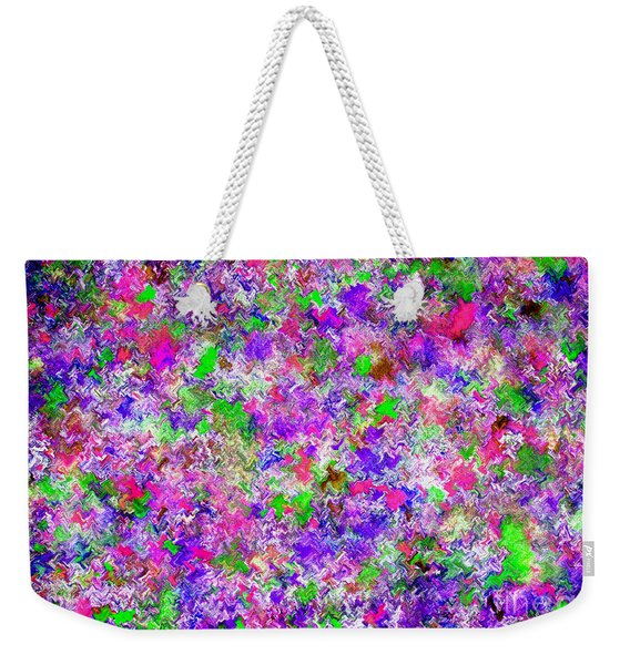 Weekender Tote Bag featuring the painting Abstract Watercolor A22416 by Mas Art Studio