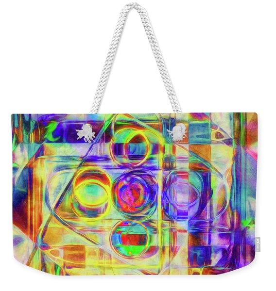 Abstract - Wheels Within Wheels Weekender Tote Bag