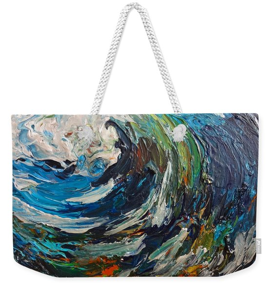 Abstract Wild Wave  Weekender Tote Bag