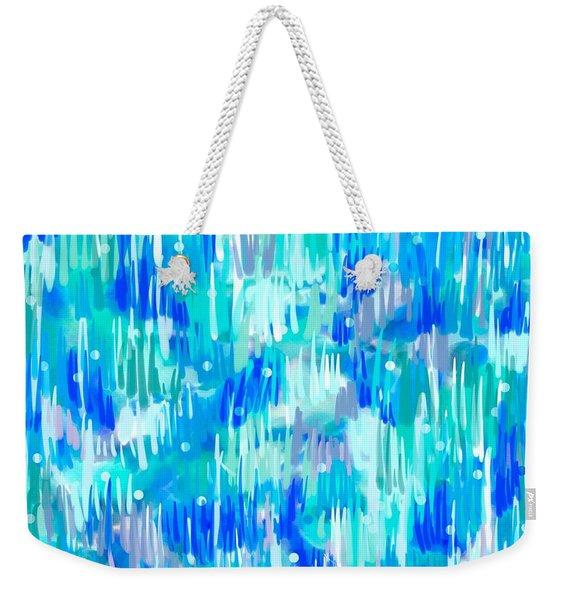 Abstract Winter Weekender Tote Bag