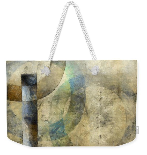 Abstract With Circles Weekender Tote Bag