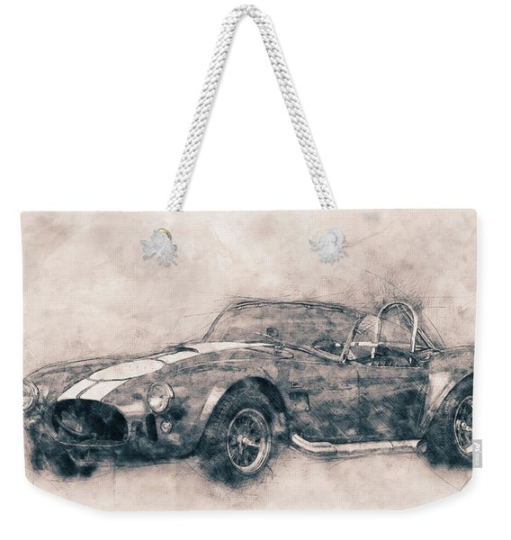 Ac Cobra - Shelby Cobra 1 - 1962s - Automotive Art - Car Posters Weekender Tote Bag