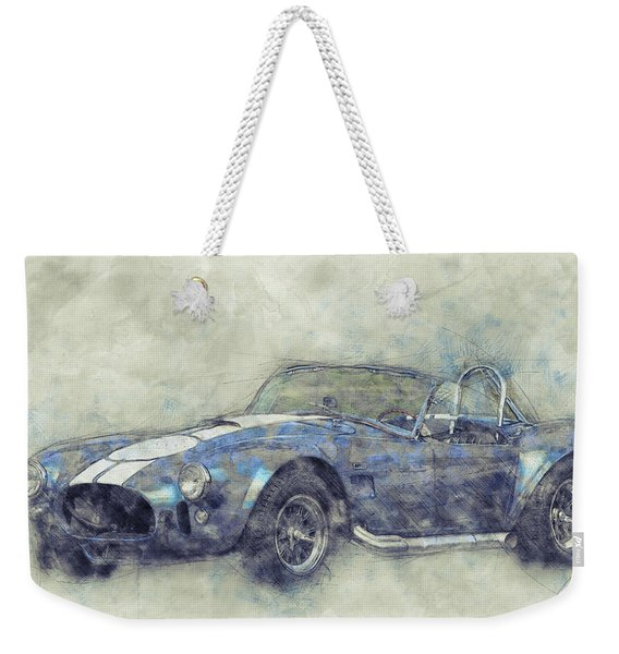 Ac Cobra - Shelby Cobra - 1962s - Automotive Art - Car Posters Weekender Tote Bag