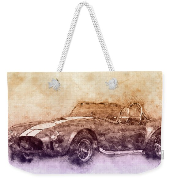Ac Cobra - Shelby Cobra 2 - 1962s - Automotive Art - Car Posters Weekender Tote Bag
