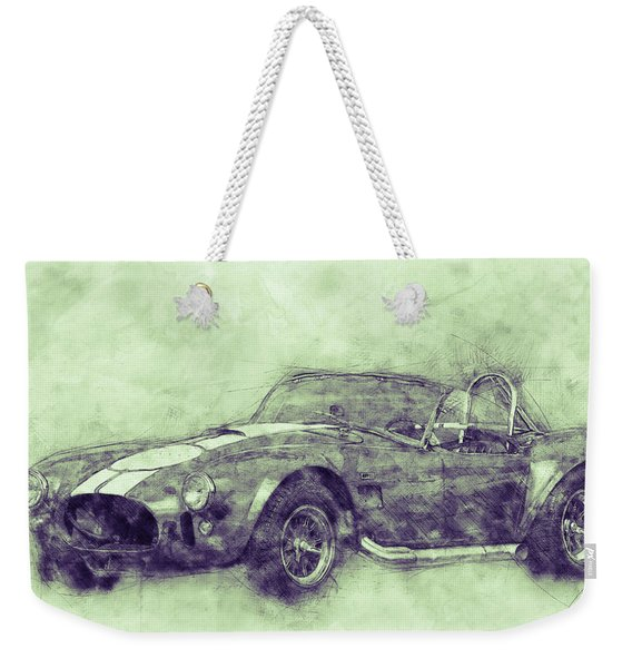 Ac Cobra - Shelby Cobra 3 - 1962s - Automotive Art - Car Posters Weekender Tote Bag