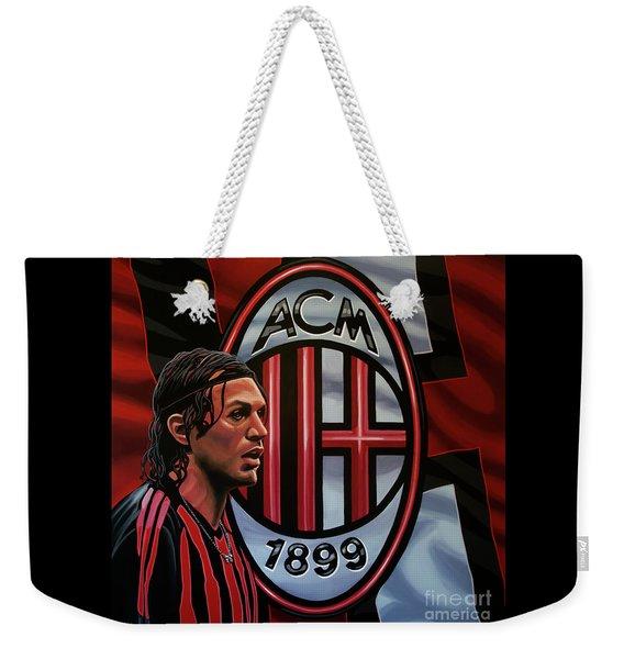 Ac Milan Painting Weekender Tote Bag