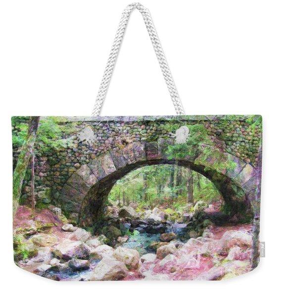 Acadia National Park - Cobblestone Bridge Abstract Weekender Tote Bag