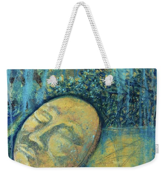 Weekender Tote Bag featuring the painting Ace Of Coins by Ashley Kujan