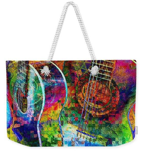 Acoustic Cubed Weekender Tote Bag