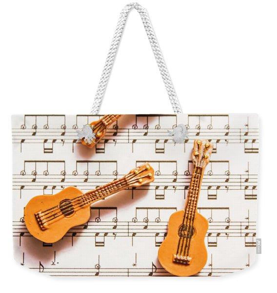 Acoustic Quartet Weekender Tote Bag