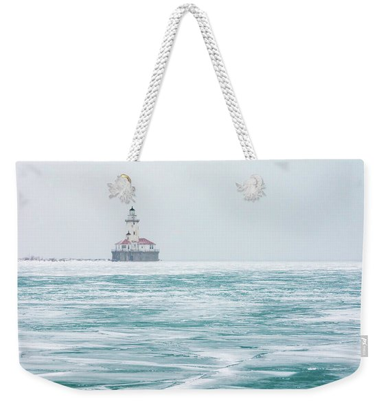 Across The Frozen Lake Weekender Tote Bag