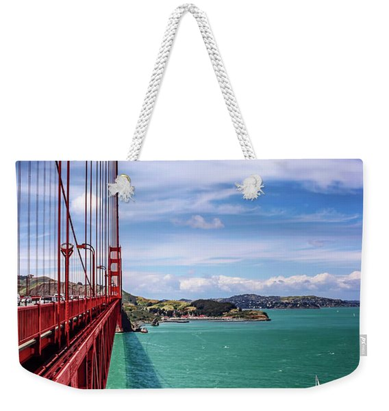Across The Golden Gate Bridge San Francisco Weekender Tote Bag