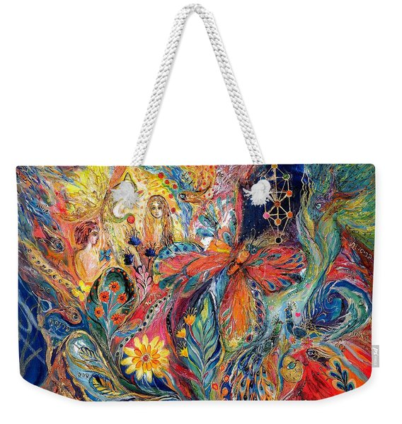 Adam And Hava Weekender Tote Bag