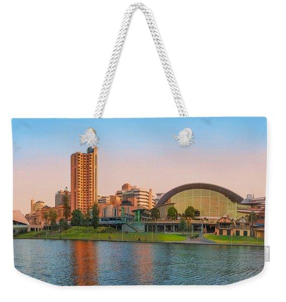 Adelaide Riverbank Panorama Weekender Tote Bag