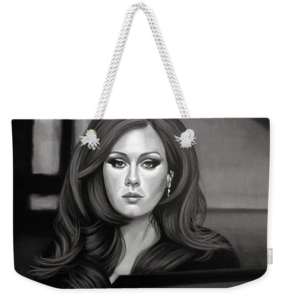 Adele Mixed Media Weekender Tote Bag