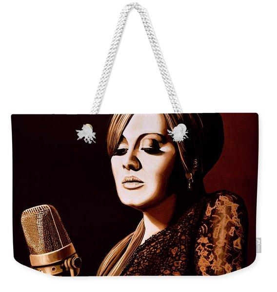 Adele Skyfall Gold Weekender Tote Bag
