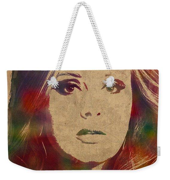 Adele Watercolor Portrait Weekender Tote Bag