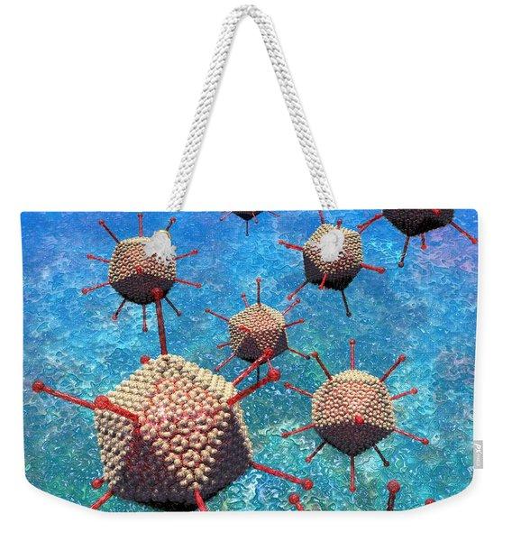 Adenovirus Particles 3 Weekender Tote Bag