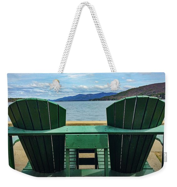 Adirondack Chair For Two Weekender Tote Bag