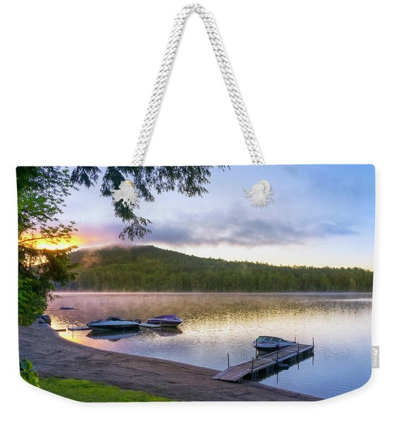 Adirondack Lake Sunrise Weekender Tote Bag
