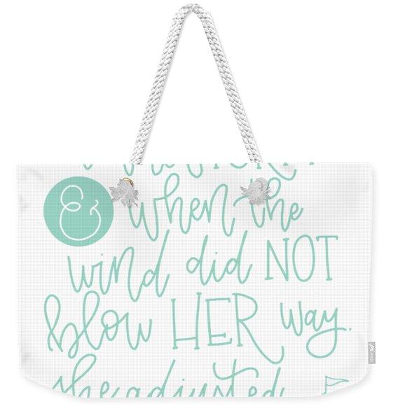 Adjusted Her Sails Weekender Tote Bag