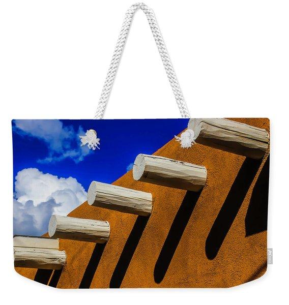 Adobe Wall With White Beams Weekender Tote Bag