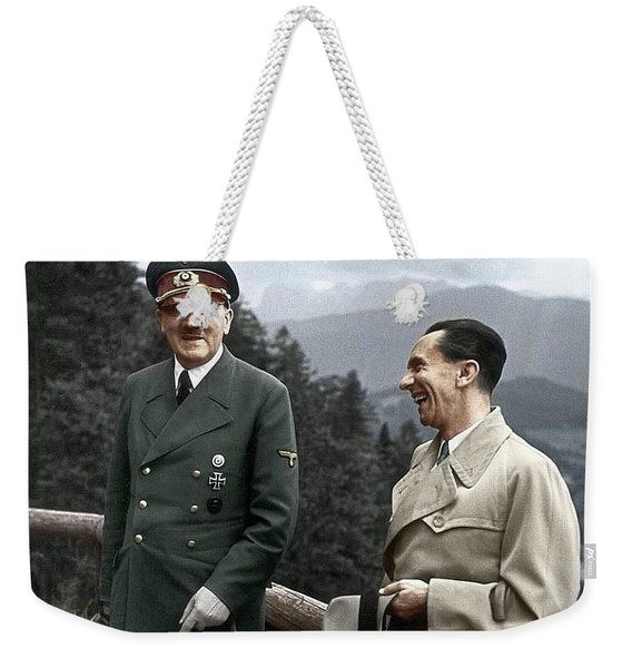 Adolf Hitler Joseph Goebbels Berghof Retreat  Number 2 Agfacolor Heinrich Hoffman Photo Circa 1942 Weekender Tote Bag