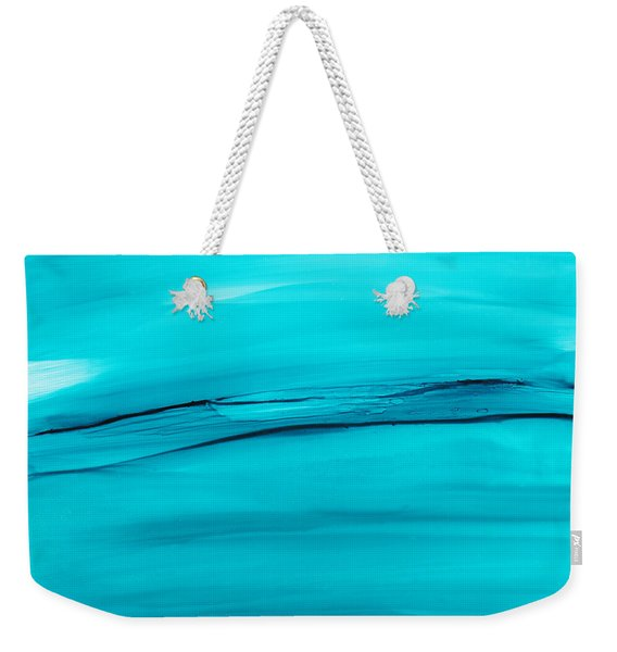 Adrift In A Sea Of Blues Abstract Weekender Tote Bag